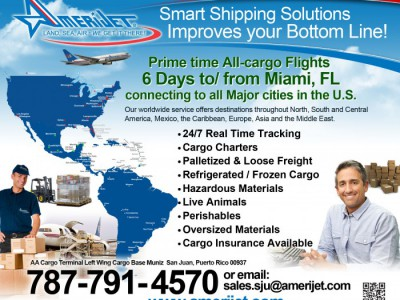 Amerijet's Smart Shipping From / To Miami